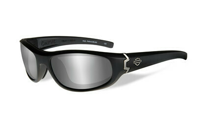 Wiley X HD CURVE PPZ™ Grey Silver Flash/ Black Matte Frame Biker Glasses with Removable Gaskets