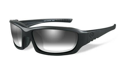 Wiley X HD GEM LA™ Light Adjusting Grey Lenses / Matte Black Frame Biker Glasses with Removable Gaskets