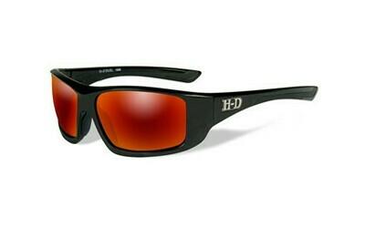 Wiley X HD Duel Red Mirror Lenses / Gloss Black Frame Biker Glasses