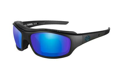 Wiley X HD TUNNEL PPZ BLUE MIRROR MAT BLK FRAME Biker Glasses