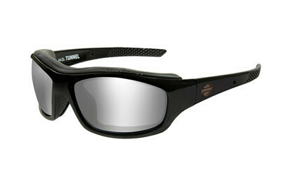 Wiley X HD TUNNEL GREY SILVER FLASH GLOSS BLK FRAME Biker Glasses