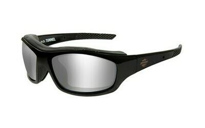Wiley X HD TUNNEL GREY SILVER FLASH GLOSS BLK FRAME Biker Glasses