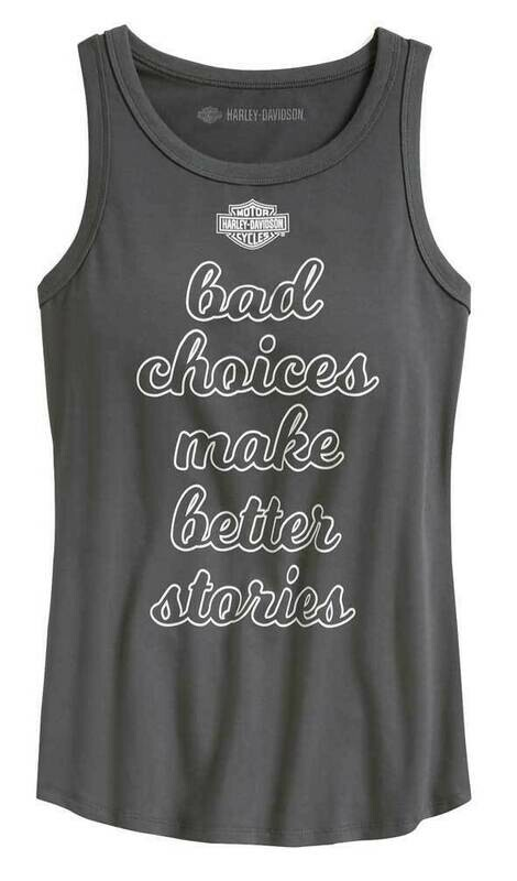 Tank Top Women Sleeveless Bad Choices - Asphalt