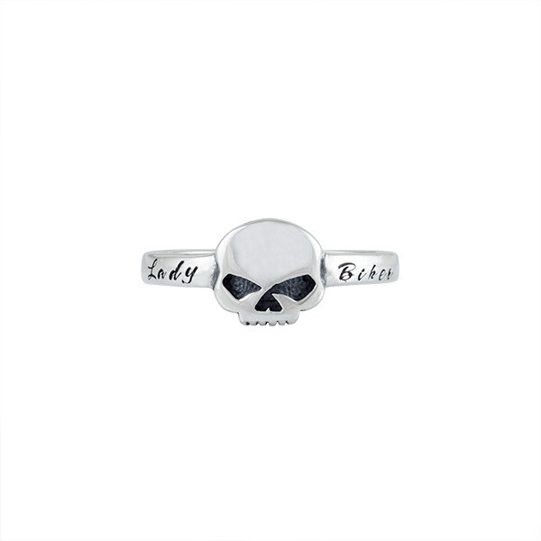 Ring Women Plain Silver Skull Lady Biker - H-D®Thierry Martino