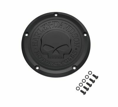 P&A - Willy G Skull Derby Cover Black Touring