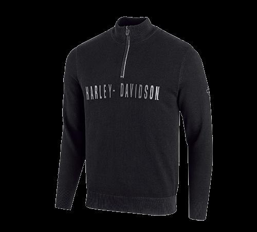 Men Sweater Wind-Resistant 1/4-Zip - Slim Fit
