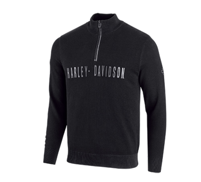 Men Sweater Wind-Resistant 1/4-Zip - Slim Fit