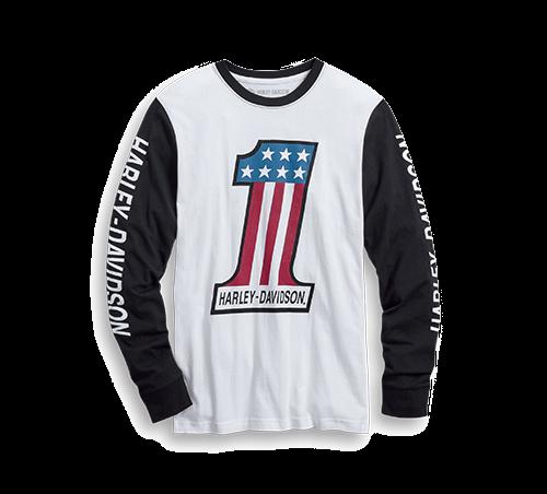 Men T-Shirt Long Sleeve #1 Colorblock