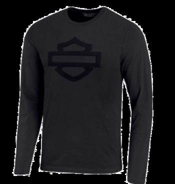 Men T-Shirt Long Sleeve Embossed Logo