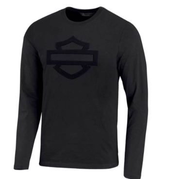 Men T-Shirt Long Sleeve Embossed Logo