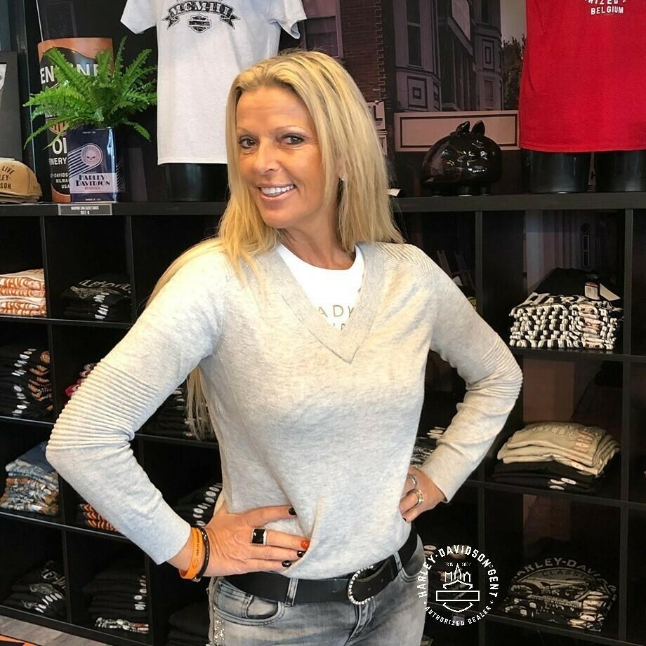 Pullover Women H-D® Moto Wool Blend V-Neck