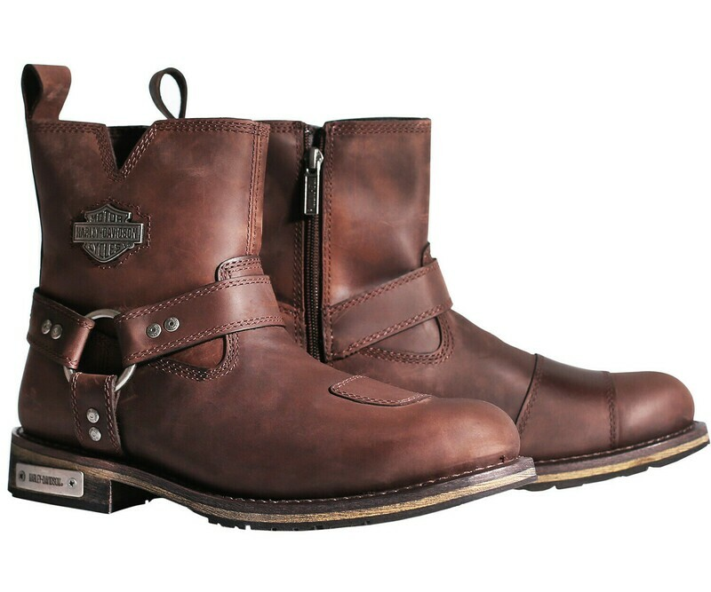 "Boots Men CE-certified Waterproof Laced CONKLIN Brown 8"" Leather"