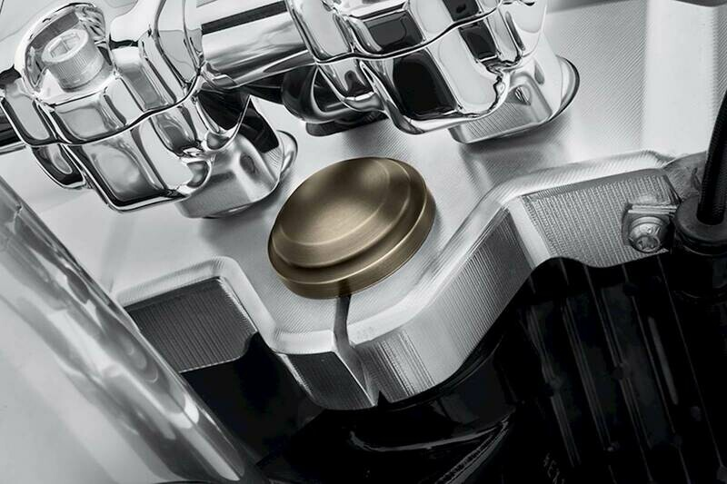 P&A - Brass Steering Stem Nut Cover Softail