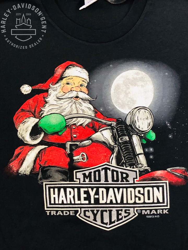 Dealer Shirt Men Short Sleeve Biker Claus