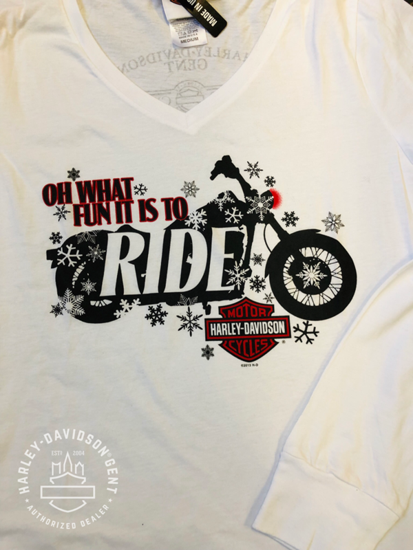 Dealer Shirt Lady Long Sleeve Biker Claus