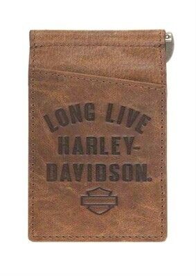 Harley-Davidson® Men's Long Live Wallet | Money Clip | ID Window