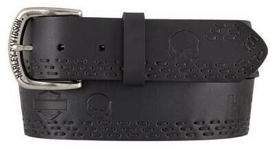 Belt Harley-Davidson® Men's Eliminator Genuine Leather, Black