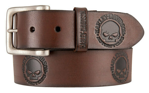 Belt Harley-Davidson® Men's Embossed Willie's World Leather, Brown