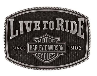 Harley-Davidson® Men's Live To Ride Belt Buckle | Bar & Shield® Logo