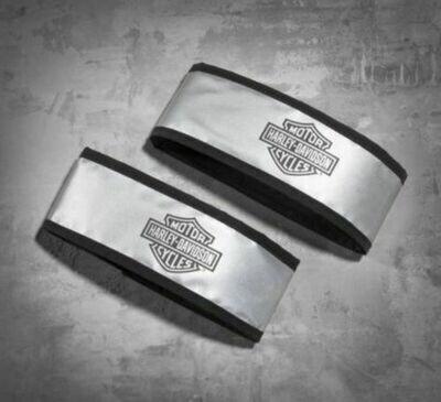 Reflective Armbands B&S Logo Silver - Set of 2