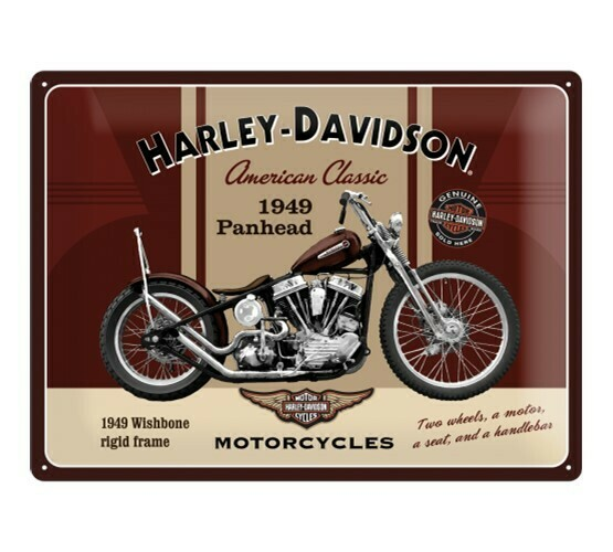 TIN SIGN Harley-Davidson Panhead (30x40cm)