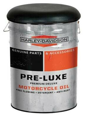 Harley-Davidson® Pre-Luxe Genuine Bucket Stool, Steel Barrel, 13 gal.