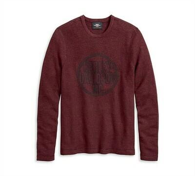 Sweater Men Circle Logo Dark Red