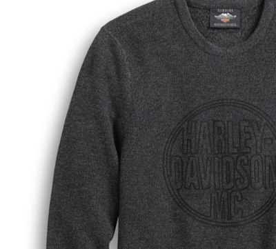 Men's Circle Logo Sweater Dark Grey