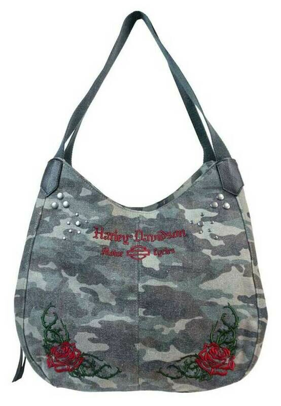 Bag Bucket Camo Print with Embroidery
