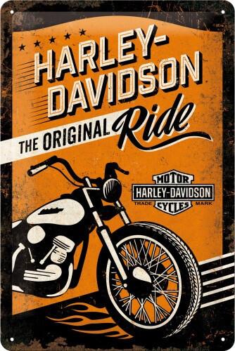 Tin Sign Harley-Davidson Original Ride 20 x 30 cm