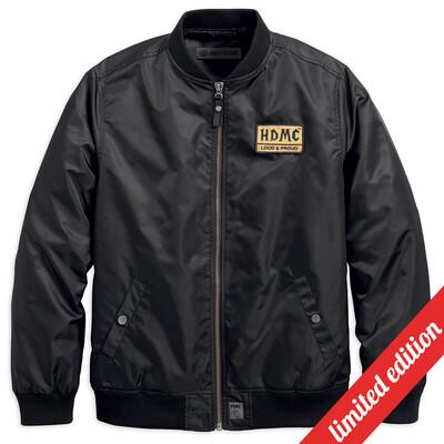 Men Bomber Jacket HDMC Patch Slim Fit