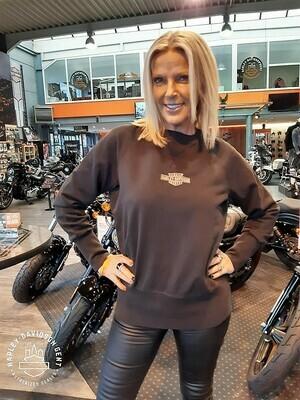 Pullover Sweatshirt Women Harley-Davidson® Crewl Stitch, Black