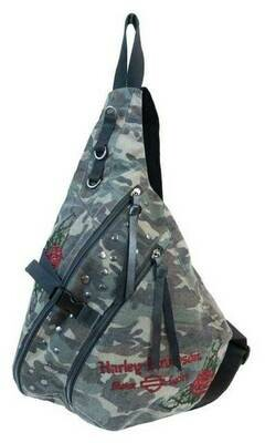 Bag Harley-Davidson® Women's Rose Embroidery Camo Print Sling Backpack
