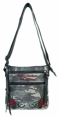 Bag Harley-Davidson® Women's Rose Embroidery Camo Print Crossbody Purse