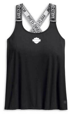Harley-Davidson® Women's Performance Strappy Sleeveless Tank Top
