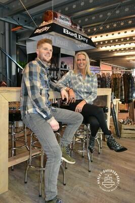 Harley-Davidson® Men's Eagle Patch Long Sleeve Plaid Slim Fit Shirt
