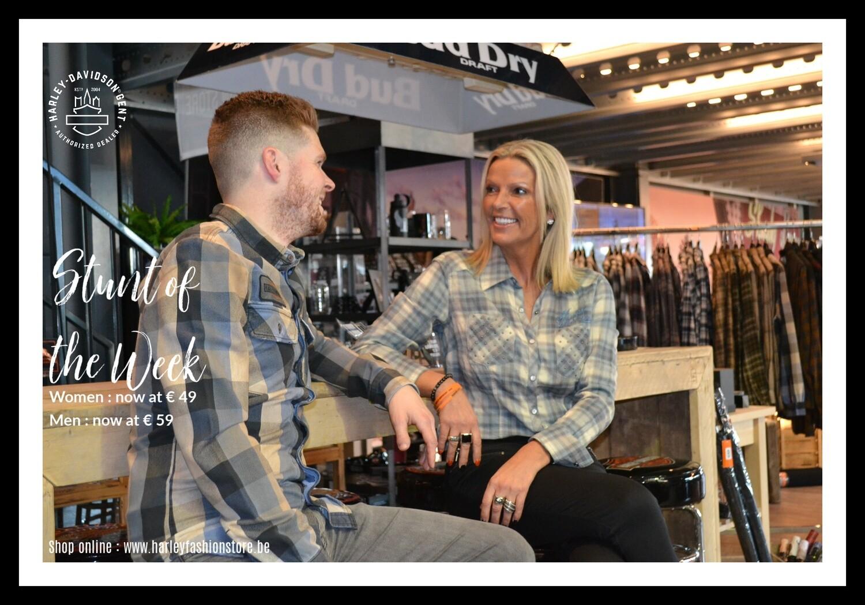 *1* STUNT of the WEEK - Harley-Davidson® Men's Logo Over-Dyed Plaid Slim Fit Long Sleeve Shirt