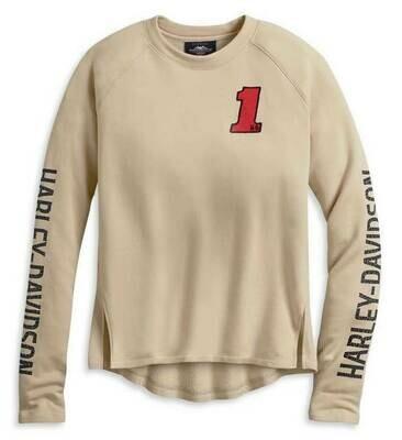 Women's H-D One Pullover Sweatshirt, Off White