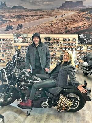 *1* STUNT of the WEEK - Harley-Davidson® Men's Sherpa Fleece Collar Denim Causal Jacket, Black