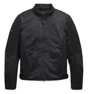 Men's Ozello Slim Fit Mesh Riding Jacket, Black