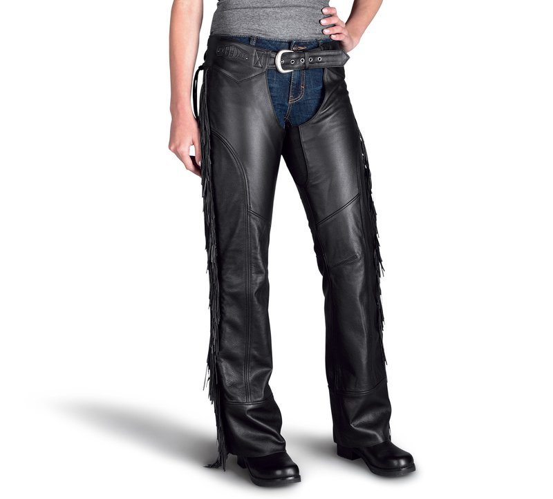 Boone Fringed Leather Chaps Women