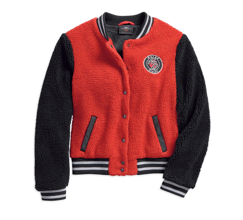 Sherpa Fleece Varsity Jacket Women