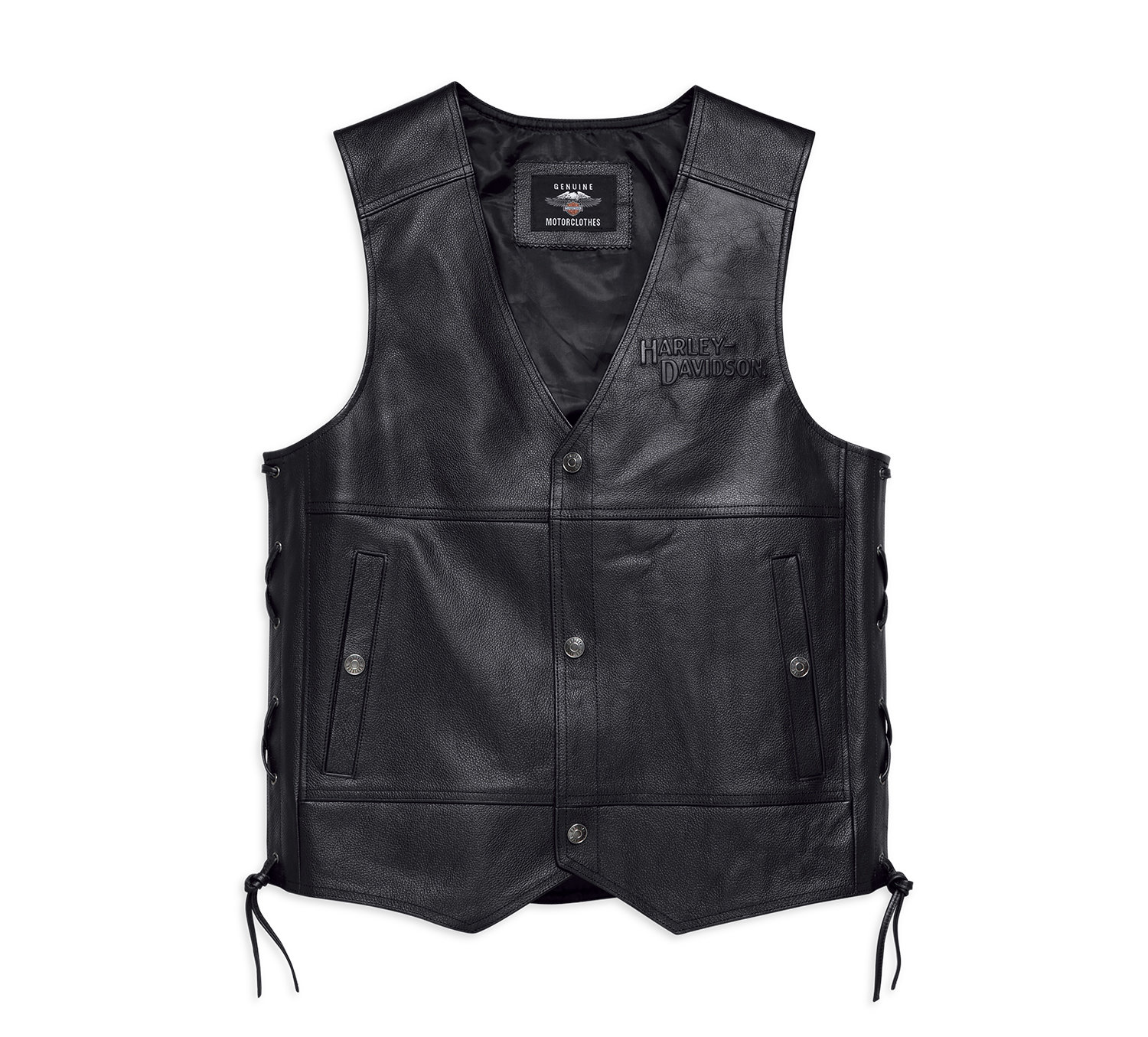 Vest Men Tradition II Leather Motorvest