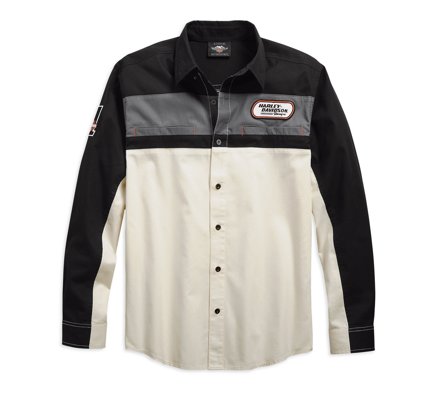 H-D Racing Long Sleeve Shirt Men
