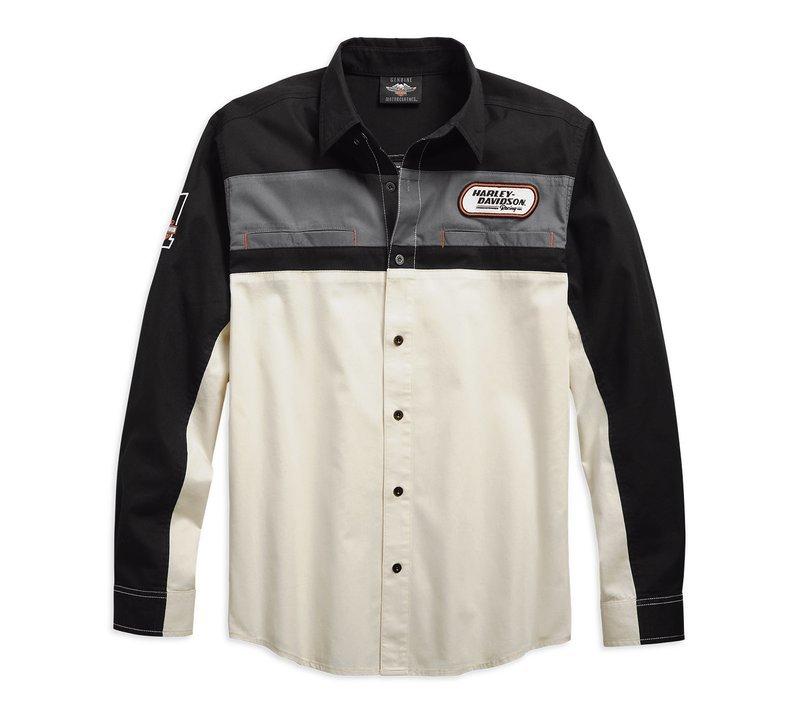 Shirt Men Long Sleeve H-D Racing