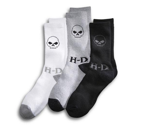 Socks Men 3-Pack Skull