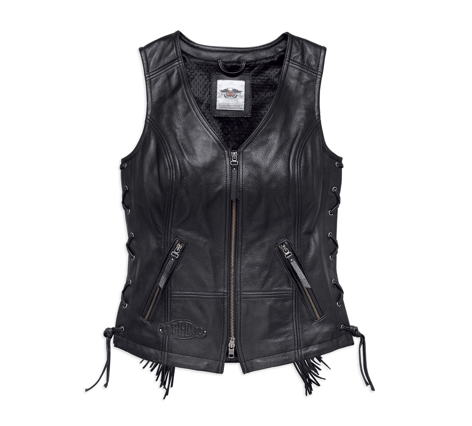 Vest Women Boone Fringed Leather Motorcycle