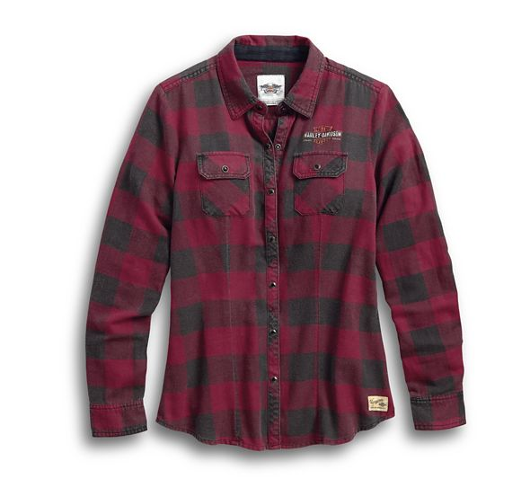 Genuine Laced Yoke Plaid Shirt Women