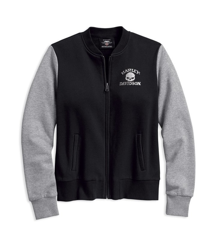 Jacket Women Sweater Skull Activewear Bomber