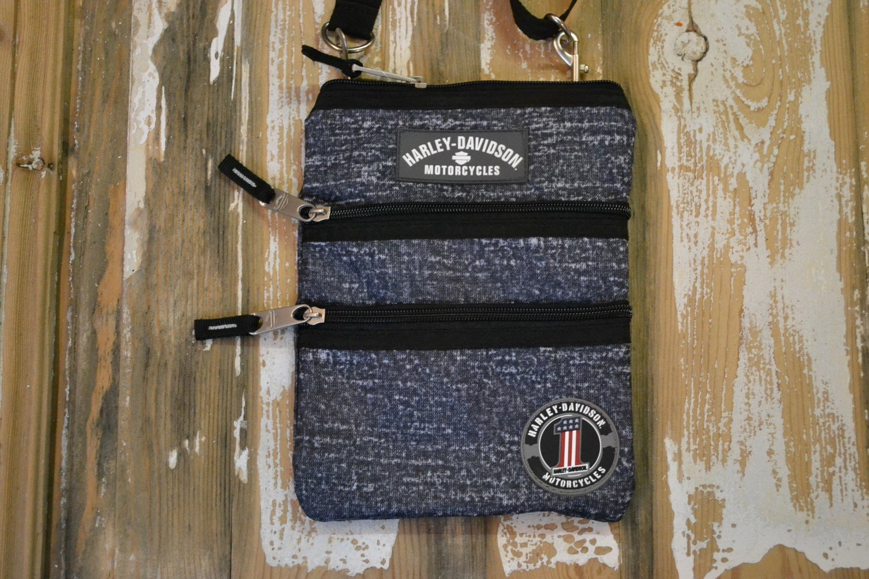 Bag Crossbody Sling Vintage Purse Blue Rain